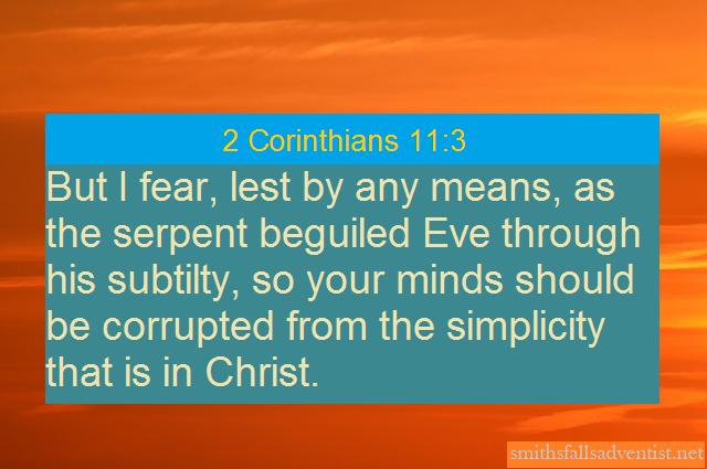 2 Corinthians 11verse 3