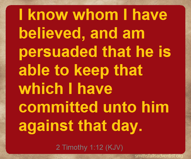 2 Timothy 1 verse 12