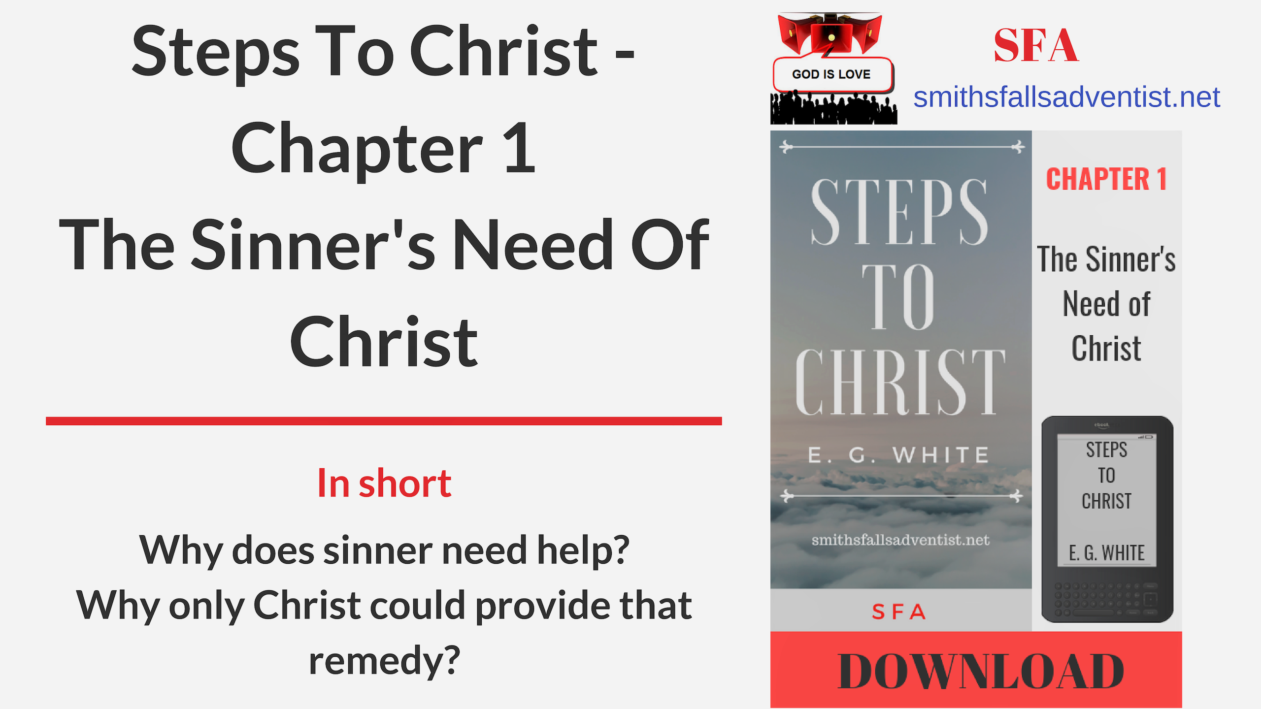 Title-Steps-To-Christ-Chapter-1-The-Sinners-Need-Of-Christ-text-logo